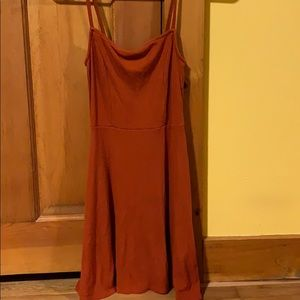 Orange dress tight